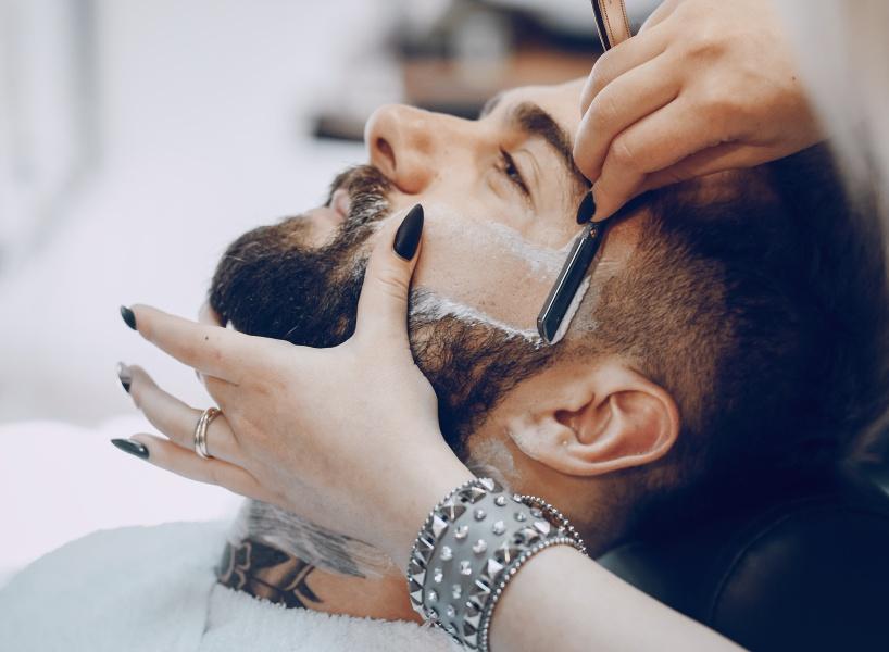 бритье бритвой фото