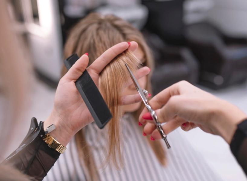 коррекция формы волос фото