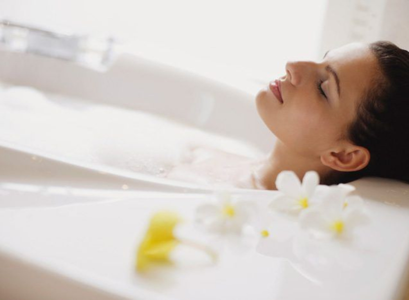скипидарная белая ванна фото