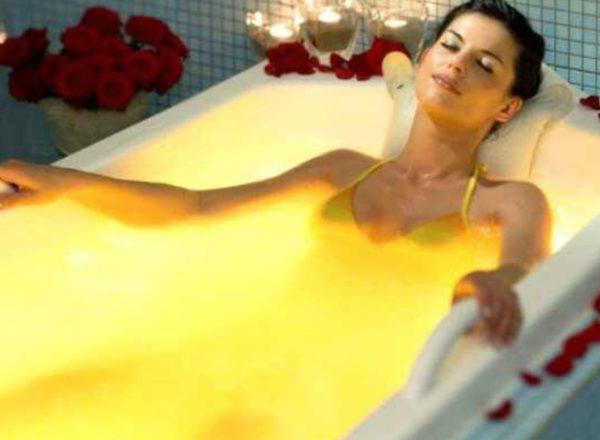 скипидарная желтая ванна фото