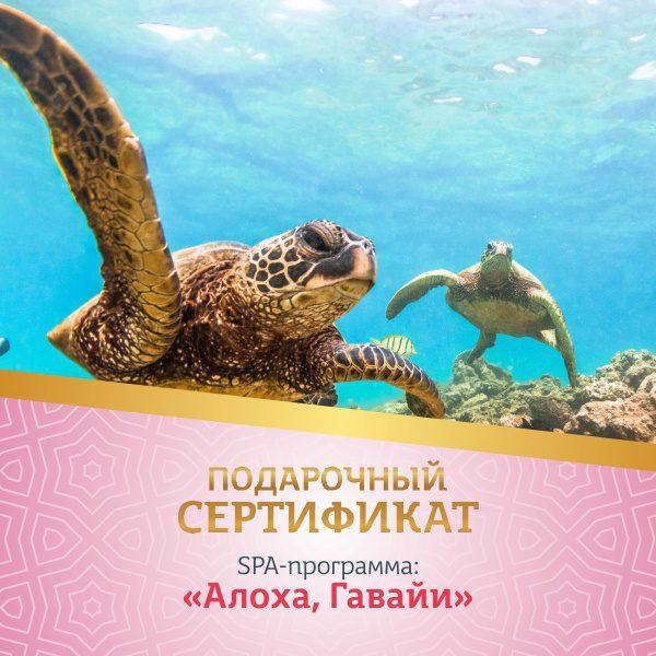 Подарочный сертификат - АЛОХА, ГАВАЙИ фото